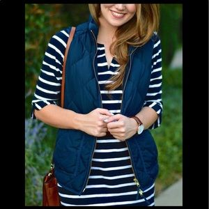 J Crew puffer quilted vest jacket size small